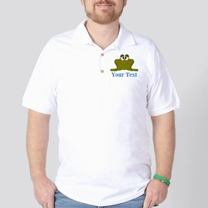 Personalizable Blue Frog Golf Shirt