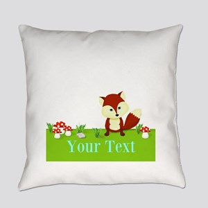 Personalizable Fox in the Woods Everyday Pillow