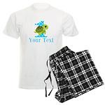 Sea Turtle First Birthday Blue Polka Dot Pajamas