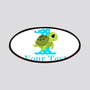 Sea Turtle First Birthday Blue Polka Dot Patch