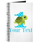 Sea Turtle First Birthday Blue Polka Dot Journal
