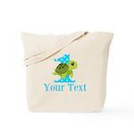 Sea Turtle First Birthday Blue Polka Dot Tote Bag