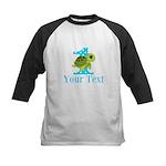 Sea Turtle First Birthday Blue Polka Dot Baseball