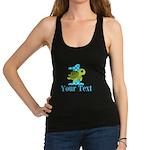 Sea Turtle First Birthday Blue Polka Dot Tank Top