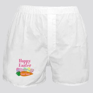 Happy Easter Carrot and Eggs Boxer Shorts