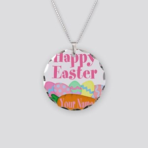 Happy Easter Carrot and Eggs Necklace