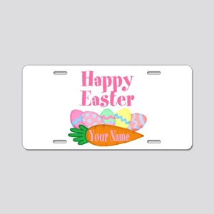 Happy Easter Carrot and Eggs Aluminum License Plat