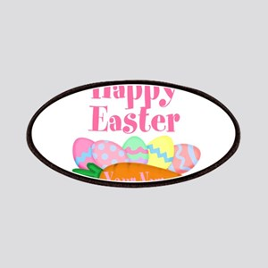 Happy Easter Carrot and Eggs Patch