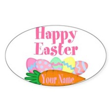 Happy Easter Carrot and Eggs Sticker