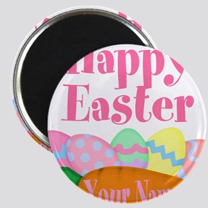 Happy Easter Carrot and Eggs Magnets