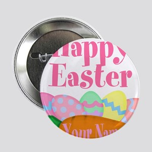 "Happy Easter Carrot and Eggs 2.25"" Button"