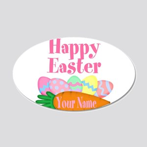 Happy Easter Carrot and Eggs Wall Decal