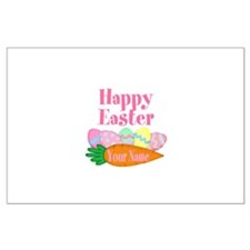 Happy Easter Carrot and Eggs Posters