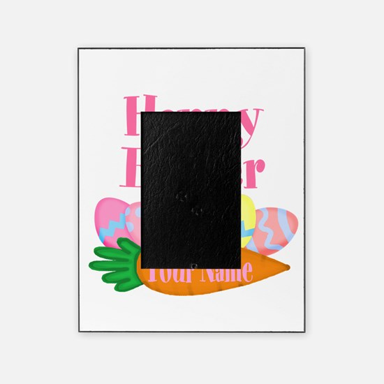 happy easter carrot and eggs picture frame - Easter Frames