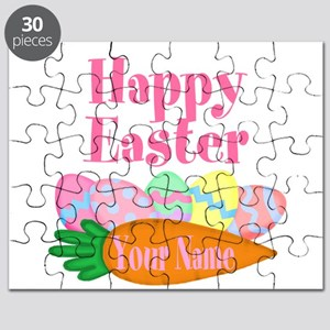 Happy Easter Carrot and Eggs Puzzle