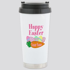 Happy Easter Carrot and Eggs Travel Mug