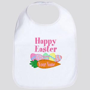 Happy Easter Carrot and Eggs Baby Bib
