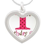 Personalizable First Birthday Pink Brown Necklaces