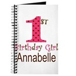 Personalizable First Birthday Pink Brown Journal