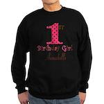 Personalizable First Birthday Pink Brown Sweatshir