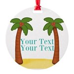 Personalizable Palm Trees Ornament