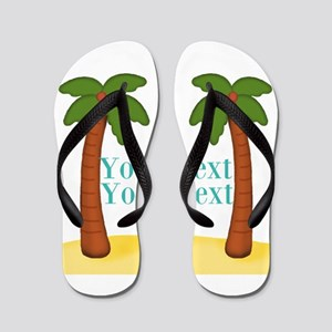 Personalizable Palm Trees Flip Flops