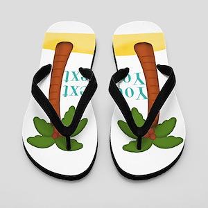 Personalizable Palm Trees Flip Flops