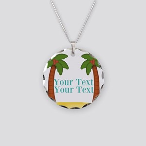 Personalizable Palm Trees Necklace