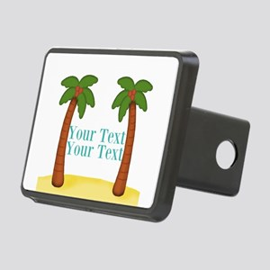 Personalizable Palm Trees Hitch Cover
