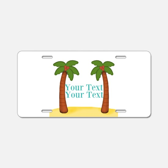 Personalizable Palm Trees Aluminum License Plate