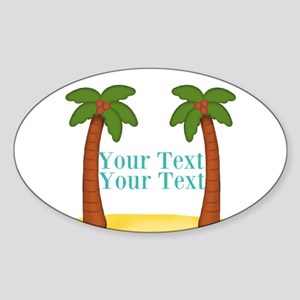 Personalizable Palm Trees Sticker