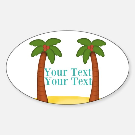 Personalizable Palm Trees Decal
