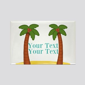 Personalizable Palm Trees Magnets