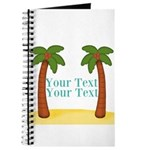 Personalizable Palm Trees Journal