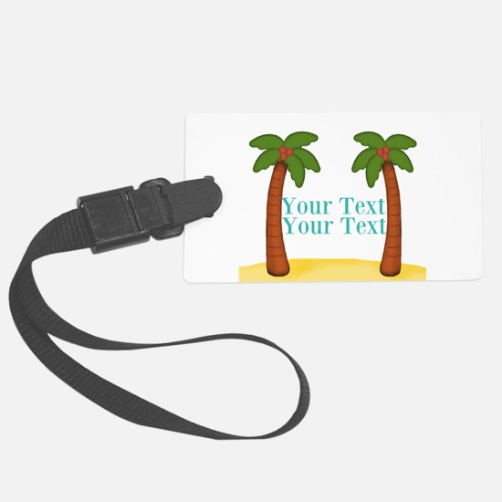 Personalizable Palm Trees Luggage Tag