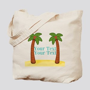 Personalizable Palm Trees Tote Bag