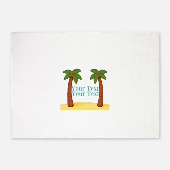 Personalizable Palm Trees 5'x7'Area Rug