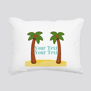Personalizable Palm Trees Rectangular Canvas Pillo