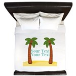 Personalizable Palm Trees King Duvet