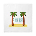 Personalizable Palm Trees Queen Duvet