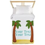 Personalizable Palm Trees Twin Duvet