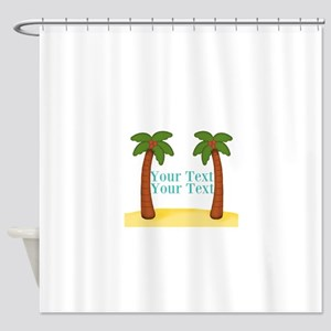 Personalizable Palm Trees Shower Curtain