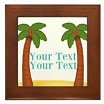 Personalizable Palm Trees Framed Tile