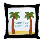 Personalizable Palm Trees Throw Pillow