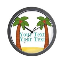 Personalizable Palm Trees Wall Clock