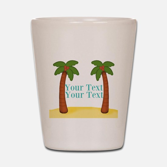 Personalizable Palm Trees Shot Glass