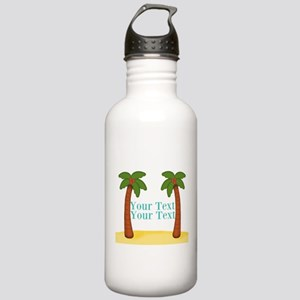 Personalizable Palm Trees Water Bottle