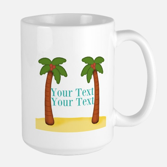 Personalizable Palm Trees Mugs