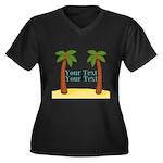 Personalizable Palm Trees Plus Size T-Shirt