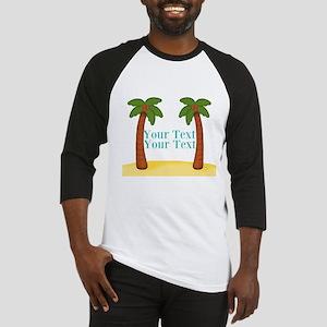 Personalizable Palm Trees Baseball Jersey